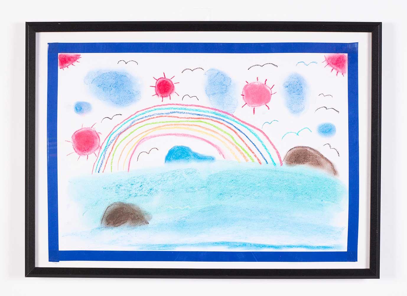太陽と虹とかもめ